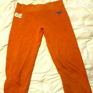 PINK Victoria's Secret Orange Sweatpants Medium 🐕